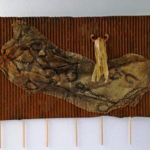 Lauree Brown Encrusted Corrugation