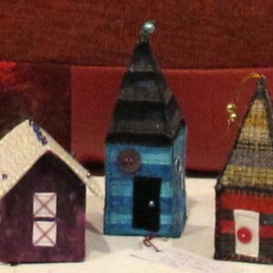 Sue Roberts Group of Three Fabric Houses